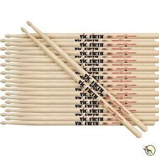 Vic Firth American Classic 5B Wood Tip Rock Band Drumsticks 12-Pairs Brick