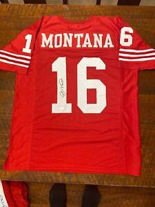 Joe Montana Signed San Francisco 49ers Jersey JSA Coa Autographed