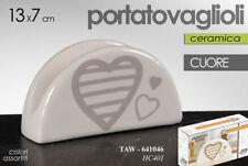 PORTATOVAGLIOLI 13*H7CM CERAMICA CUORE CUCINA PIZZERIA RISTORANTE TAW 641046