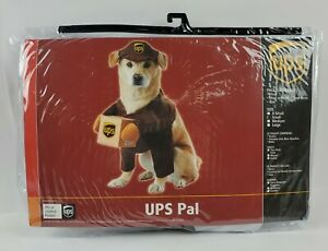Lightly Used Novelty UPS Delivery Driver Uniform Pal Pet Dog Costume Size S