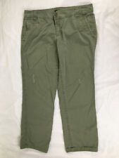 NEW YORK AND COMPANY LADIES JEANS, ARMY GREEN, MANUFACTURE DISTRESSED, Size-14