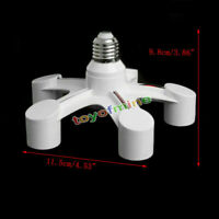 5in1 e27 a e27 Base Socket Splitter efficienti LED Lampadina Adattatore Titolare