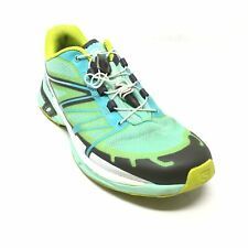 Women's Salomon Wings Pro 2 Trail Running Shoes Sneakers Size 6.5 Teal Mint AI15