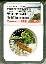 2017 Canada S$20 Canoe To Tranquil Times Colorized ER NGC PF70 Ultra Cameo