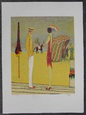 Lithografie - Ramon Dilley - Deauville élégante