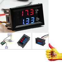 Voltimetro Amperimetro panel 100v 10A digital DC Rojo Azul voltmeter ammeter