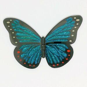 Butterfly 2007 - Morpho Geocoin - Black Nickel Teal Glitter XLE