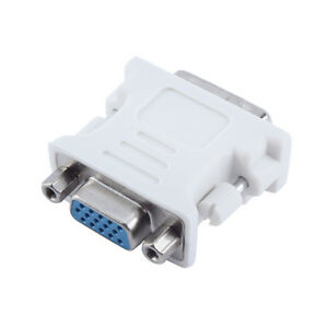 DVI-I 24+5 Pin DVI Male to VGA Female Video Converter Adapter for PC laptop high