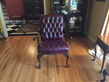 Hancock & Moore Chair Ox Blood Burgundy Leather Ball and Claw
