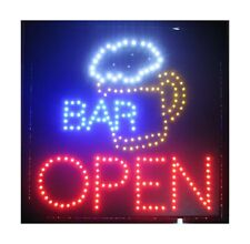 Creative Motion Bar with Beer Mug and Open Sign Light