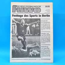 DDR FuWo Fussballwoche 30/1985 FC Karl-Marx-Stadt Hansa Rostock Statistik IV B
