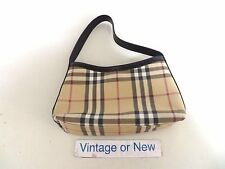 Women's Small Authentic Burberry London Plaid Nova Check Bag