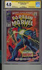 MARVEL SUPER HEROES #13 CGC 4.0 SS SIGNED STAN LEE 1ST CAROL DANVERS 2ND CAPTAIN