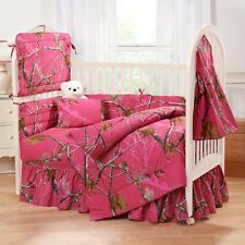 Realtree Ap Hot Pink Fuchsia Camouflage Baby Crib Bedding Sheets - Camo Infant