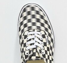 Vans Authentics US Men 13 Blur Checkerboard Black/White Skate Shoes