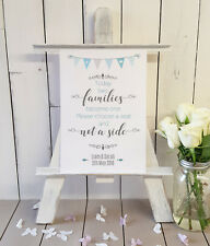 Personalised wedding choose a seat not a side sign