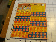 Vintage Original unused BASKETBALL Punch Board game W H Brady