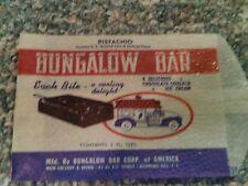 Bungalow Bar pistachio ice cream bar wrapper bag 1940's Long Island New York