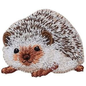 "Hedgehog Applique Patch - Animal, Pet Badge 1-3/4"" (Iron on)"