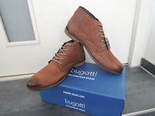 Bugatti Véritable Cuir Hommes Hiver Lacets Chaussures Taille 44 desert boots bottes Marron