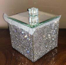 BELLA LUX Canister FULL CRYSTAL RHINESTONE Bling Glam BATHROOM ACCESSORY Luxury