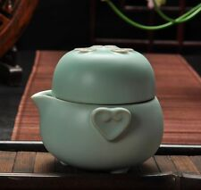 China Ru Kiln Kung Fu Tea Set  Portable Travel A Pot Of A Cup Quik Teacup