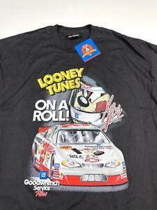 Vtg NASCAR Goodwrench Kevin Harvick 29 Service RCR Chase XL  Black Taz T-Shirt