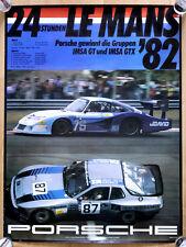 """L'Original Porsche Affiche Renn Poster """"Le Mans"""" 1982 classe GT PORSCHE 935"""