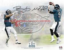 Nick Foles & Trey Burton Philadelphia Eagles Autographed 8x10 Photo (RP)