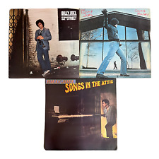 Lot of 3 Billy Joel Vinyl, LP  Glass Houses, 52nd Street & Songs In The Attic