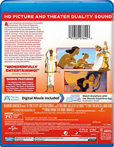 The Prince of Egypt [Blu-ray] [Blu-ray] - DVD - Free Shipping. - New