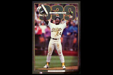Rickey Henderson STOLEN BASE RECORD #939 Oakland A's 1991 Commemorative POSTER