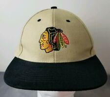 Chicago Blackhawks NHL Hat Brown Black Nissun Embroidered Ball Cap New