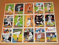 2010 Topps Team Set 1 2 & Update New York Mets (33) David Wright Beltran Santana