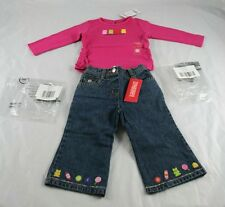 Gymboree NWT Girls Candy Shoppe Long Sleeve Tee Denim Pant Sz 12-18 Months u2o37