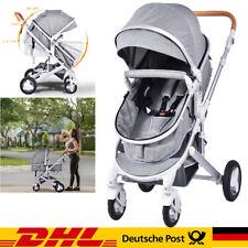 3 in 1 Kinderwagen  Komplettset Babywanne Buggy Autositz Alu Zusammenklappbar