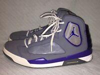 Men's Size 13 Nike Air Jordan Flight Luminary Grey Basketball Shoes 551820-019