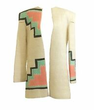 Mary McFadden Vtg 80's Cream Quilted Pastel P