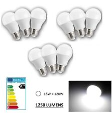 LOT DE 9 AMPOULE LED MAISON E27 15W 220V 1250 LUMENS - COULEUR BLANC FROID 6000K