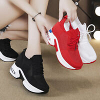 Trainers Women Breathable Fashion Sneakers Platform Wedge High Heel Casual Shoes