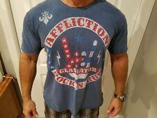 Men's modified Affliction embellished crew neck t-shirt - XL