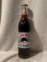 FULL 12oz SUN-RISE ROOT BEER ACL SODA BOTTLE COCA-COLA WINSTON-SALEM, N.C.