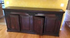 CUSTOM HANDMADE ONE-OF-A-KIND FURNITURE: 7 ft wide Indonesian Cabinet/Chest