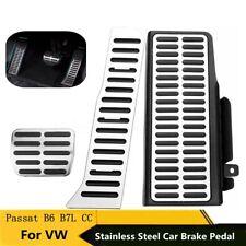 3Pcs Steel Automatic Transmission Car Brake Pedal For VW Passat B6 B7L CC LHD