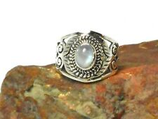 Oval  MOONSTONE   Sterling  Silver   925  Gemstone   RING  -  Size: N