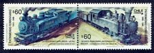 CHILE 1988 STAMP # 1299/30 MNH LOCOMOTIVE RAILROADS