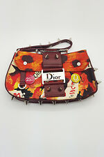 *CHRISTIAN DIOR* VINTAGE LEATHER AND CANVAS VICTIM BAG