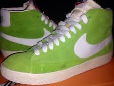 NIKE BLAZER HIGH SUEDE scarpe uomo colore verde acido e bianco taglia 10 44 new!
