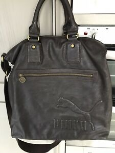 Puma Large Brown  Vintage Bag Never Used .  Faux Leather