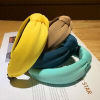 Women's Padded Knot Headband Sponge Hairband Hair Hoop Solid Color Hairband New